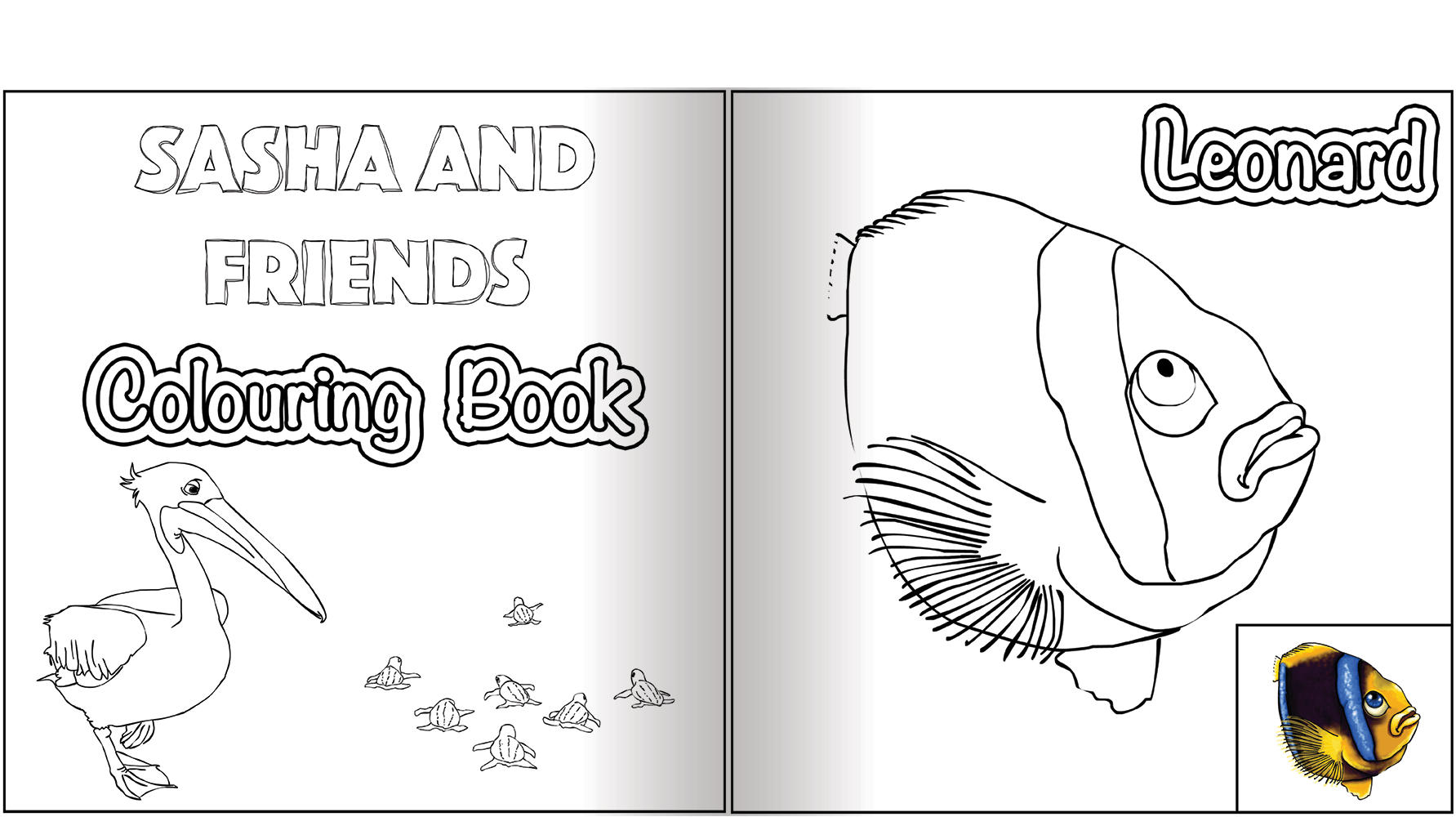 Preview Page Spread Colouring Book 1