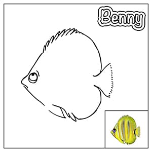 Colouring in thumbnail - Benny